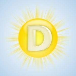 Sonnen-Symbol fr Vitamin D vor blauem Himmel